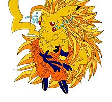 Super Saiyan Pikachu by Cookie money