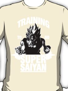 Training to go Super Saiyan (White Edition) T-Shirt