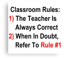 Classroom Rules Canvas Print