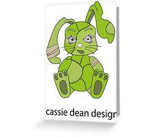 Zombie bunny Greeting Card