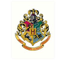 Hogwarts crest  Art Print