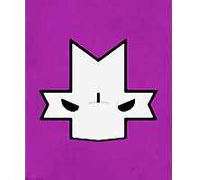 Crasher Knight Face (Purple) Photographic Print