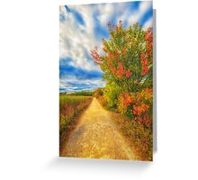 Step back into fall Greeting Card