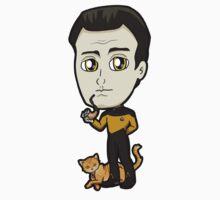 Star Trek TNG - Lieutenant Commander Data with Spot Chibi by Zphal