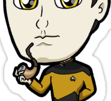 Star Trek TNG - Lieutenant Commander Data with Spot Chibi Sticker