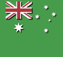 Australian Flag and Shadow by Craig Stronner