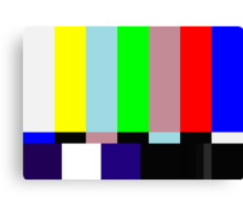 SMPTE TV Testing: Stay Tuned Canvas Print
