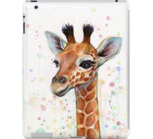 Baby Giraffe Watercolor Painting iPad Case/Skin