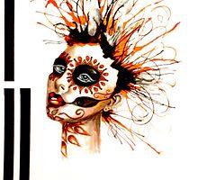 Marigold sugar skull by Dyanna Quinn