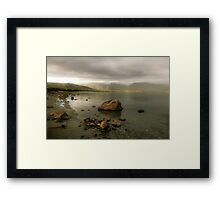 Wake up Fiordland, Here Comes the Sun Framed Print