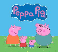 Peppa Pig Family Throw Pillow/Tote Bag by Russ Jericho
