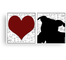 Love Staffy Dog Canvas Print