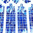 Blue Ice Stained Glass by himmstudios