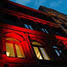 City Night Walks - the Red Facade by Georgia Mizuleva