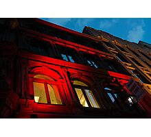 City Night Walks - the Red Facade Photographic Print