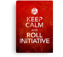 Keep Calm and Roll Initiative (Print) Canvas Print