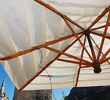 White Bar Umbrella by jojobob