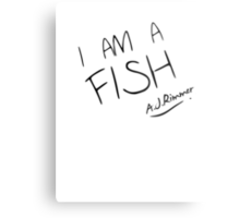 I AM A FISH Metal Print