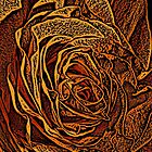 Rose Woodcut by Colin Bentham