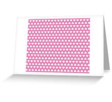 Pink Hearts Greeting Card