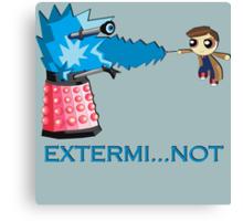 Extermi-not Powerpuff Tenth Doctor Canvas Print