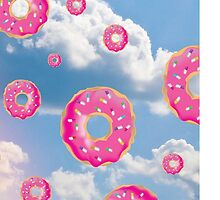Pink Molly Donut Raindrop by OnlyRealMcCoy