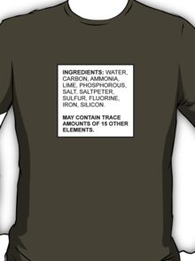 Ingredients of a Human T-Shirt