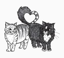 Cats in Love Kids Clothes