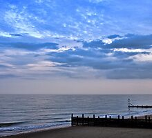 Walcott seafront Norfolk by Avril Harris