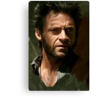 Hugh Jackman Wolverine digital painting (2) Canvas Print