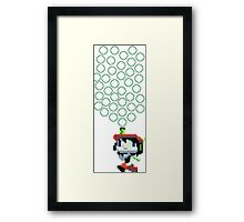 Cave Story Bubbles Framed Print