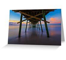 Bogue Inlet Pier at Dawn Greeting Card