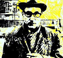 William S. Burroughs by Mert Ulus
