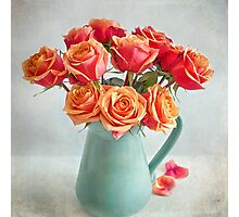 A very beautiful rose bouquet Photographic Print