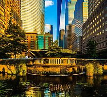 The Sunset Colors Of Battery Park City by Chris Lord
