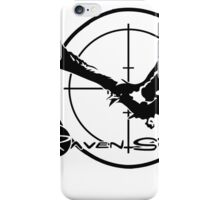 Metal Gear Solid 4 - Raven Sword (Black) iPhone Case/Skin