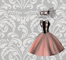 Pink Party Dress and Masquerade Mask by BubblegumLocks