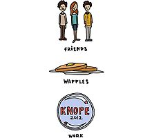 Friends, Waffles, Work. by lspiroo