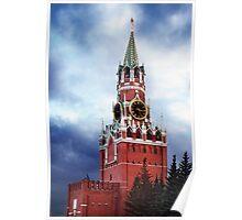 Spasskaya Tower The Kremlin in Moscow art photo print Poster