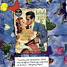 Butterfly Kisses(mixed media on card stock) by RobynLee