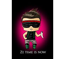 Ze Time Is Now. Photographic Print