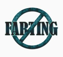 NO FARTING - TEAL BRICK Kids Clothes