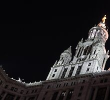 City Night Walks - Manhattan Municipal Building, a  Beaux-Arts Jewel by Georgia Mizuleva