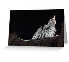 City Night Walks - Manhattan Municipal Building, a  Beaux-Arts Jewel Greeting Card