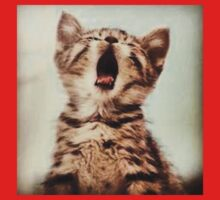 Yawning Cat Kids Clothes