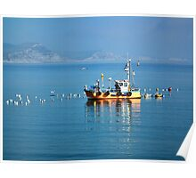 Slippery Dick Fishing Boat At Lyme Poster