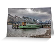 Tourist Boat at Glennridding Greeting Card