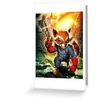 Rocket Raccoon Greeting Card