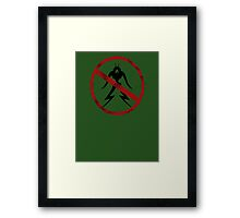 Humans only Framed Print