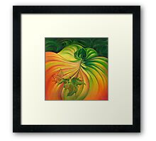 Behind the Curtain of Colours Framed Print